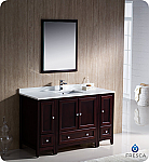 "Fresca Oxford 54"" Traditional Bathroom Vanity Mahogany Finish"