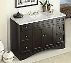 47 inch Adelina Stylish Espresso Bathroom Vanity