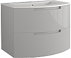 Anity 39 inch Modern Floating Bathroom Vanity Grey Glossy Finish