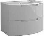 Anity 39 inch Modern Floating Bathroom Vanity Grey Glossy Finish
