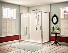"Fleurco Roma In Line 48"" Panel Door with Return Panel"