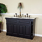 Bellaterra Home 605522A Double Sink Bathroom Vanity