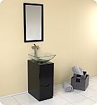17 inch Modern Bathroom Vanity with Mirror