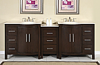 Accord Contemporary 89 inch Modular Bathroom Vanity