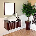 Bella 32 inch Single Sink Bathroom Vanity Black Marble Top