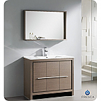 "Fresca Allier 40"" Modern Bathroom Vanity Grey Oak Finish"