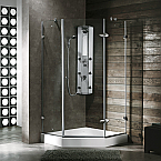 "Vigo 36"" x 36"" Neo-Angle Shower Enclosure"