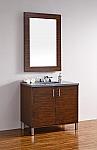 "James Martin Metropolitan Collection 36"" Single Vanity, American Walnut"