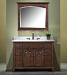 48 inch Antique Bathroom Vanity in English Chestnut Finish