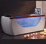 EAGO Right Drain Rectangular Whirlpool Bath Tub