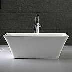 Tiffany 59 inch Small Acrylic Modern Soaking Bathtub