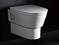 Eago Round Elongated Wall Mount Dual Flush Toilet