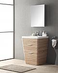 Acqua Milano 25 inch Modern Bathroom Vanity White Oak Finish