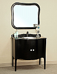 Bella 36 inch Black Bathroom Vanity