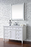 Abstron Contemporary 48 inch Single Bathroom Vanity White Finish No Top
