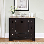 Accord Contemporary 40 inch Single Sink Bathroom Vanity Travertine Countertop