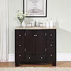 Accord Contemporary 40 inch Single Sink Bathroom Vanity Travertine Countertop