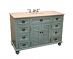 48.75 inch Adelina Cottage Bathroom Vanity Marble Top
