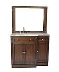 Adelina 42 inch Traditional Bathroom Vanity Cream Marble Top