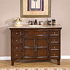 Accord Traditional 48 inch Bathroom Vanity Baltic Brown Top