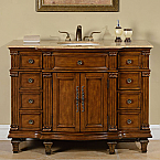 Accord 48 inch Antique White Single Sink Bathroom Vanity
