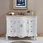 Accord Antique 48 inch Single Bathroom Vanity French Edged Top
