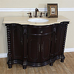 The Bella Collection 48 inch Single Sink Bathroom Vanity Creama Marfil Top