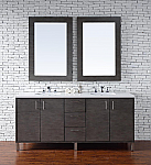 Abstron 72 inch Silver Oak Finish Bathroom Vanity Stone Countertop Options