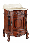 26 inch Adelina Antique Lite Oak Finish Bathroom Vanity