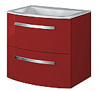 22 inch Modern Wall Mounted Bathroom Vanity Red Glossy Finish