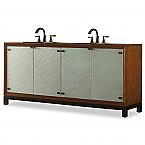 "Cole & Co. 78"" Designer Series Collection Isla Double Sink Chest"