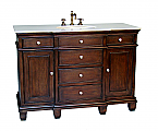 Adelina 50 inch Antique Bathroom Vanity Ash Brown Finish