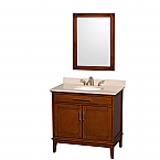 "Hatton 36"" Single Bathroom Vanity in Light Chestnut, Undermount Sink with Countertop and Mirror Options"