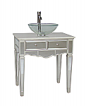 30 inch Adelina Mirrored Vessel Sink Bathroom Vanity