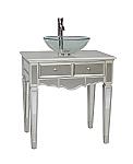 Adelina 30 inch Mirrored Vessel Sink Bathroom Vanity