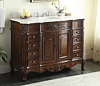 48 inch Adelina Old Fashioned Antique Look Bathroom Vanity