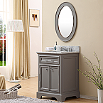 24 inch Traditional Bathroom Vanity Gray Finish