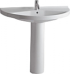 China Semi-Circular 38 inch Traditional Pedestal Bathroom Sink