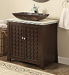 30 inch Adelina Contemporary Vessel Sink Bathroom Vanity