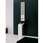 24 inch Modern Bathroom Vanity White Finish Made in Italy