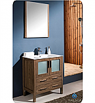 "Fresca Torino 30"" Walnut Modern Bathroom Vanity"