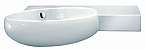 LaToscana Wall Mounted Tao Left or Tao Right Bathroom Sink