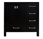 Malibu 36 inch Contemporary Espresso Cabinet Only Bathroom Vanity