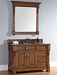 "James Martin Brookfield Collection 48"" Single Vanity with Drawers, Country Oak"