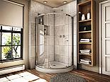 "Fleurco Banyo Amalfi 36"" Curved Glass Sliding Shower"