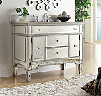 44 inch Adelina Mirrored Bathroom Vanity Marble Top