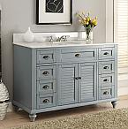 Adelina 49 inch Antique Bathroom Vanity Blue Finish
