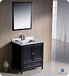 "Fresca Oxford Collection 30"" Espresso Traditional Bathroom Vanity with  Top, Sink, Faucet and Linen Cabinet Option"