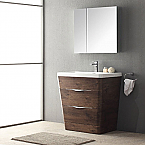 Acqua Milano 31 inch Modern Bathroom Vanity Rosewood Finish