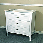 The Bella Collection 35 Inch Single Sink White Vanity Base Only